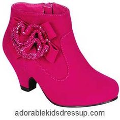 Fuchsia pink ankle boots for little girls. Adorable fashion for ...