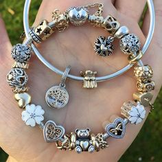 "1,890 Likes, 23 Comments - Pandora Lover (@charmdluv) on Instagram: ""Made these in memory of my grandad who died 5years ago today, he's our gardian angel... #pandora…"""
