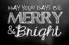 Merry and Bright Holiday Lettering