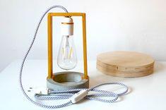 Modern lamp / Minimal lamp / Concrete light / Table lamp / Desk lighting / Wood…