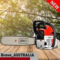 """Chainsaw 20"""" Bar Petrol 62cc Tree Pruner Pruning Firewood Farm Chain Saw 4.5Hp"""