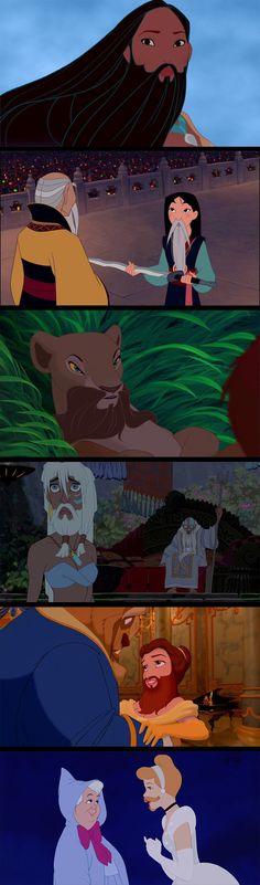 Disney princesses with beards...