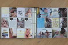 Pages created by Julia Reichert featuring the Midnight Edition, Inspire Edition, and Project Life Date Stamp.