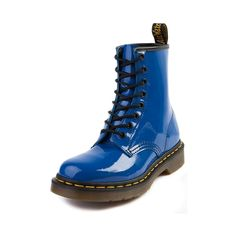 Shop for Womens Dr. Martens 8-Eye Boot in Blue Patent at Journeys Shoes. Shop today for the hottest brands in mens shoes and womens shoes at Journeys.com.When it comes to classic combat boots, Dr. Martens seems to set the standard. Shiny patent leather upper with air-cushioned sole. Tough, oil-resistant tread for optimal grip. Features 8 eyelet lace-up.