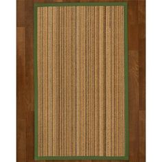 "Bay Isle Home Dover Sisal Green Area Rug Rug Size: Runner 2'6"" X 8'"