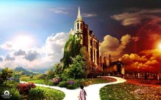The World Is Yours Wallpaper Photo Manipulated Nature Wallpapers) – Wallpapers Fantasy Castle, Fairytale Castle, 3d Wallpaper, Nature Wallpaper, Wallpaper Ideas, Wallpaper Backgrounds, Wallpaper Free Download, Fantasy World, Hadith