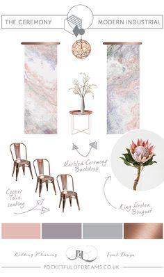 Bridal Inspiration Boards #79 ~ Modern Industrial Style Wedding Decor | Love My Dress® UK Wedding Blog