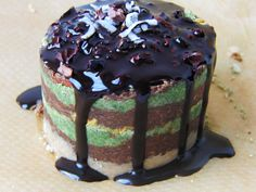 Raw Vegan Chocolate Wheat Grass Cake