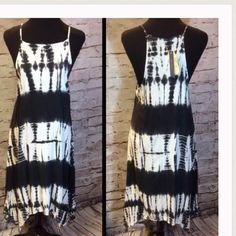 CUTE BOHO HAND TYE DYED DRESSSZ SMALL BRAND NEW WITH TAGS AND SIZE SMALL IS THIS CUTE LITTLE TYE DYE BOHO DRESS!!! SEE PICS FOR DETAILS! Black and White Jesse and J Dresses
