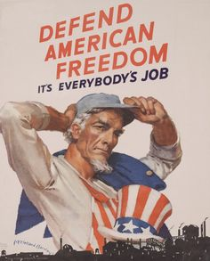 """""""Freedom, It's Everbody's Job"""" US c. 1942-1945"""