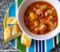 Chicken and Sweet Potato Stew recipe is a healthy dinner meal perfect on a cold day!