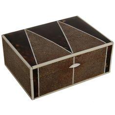 A rare Art Deco shagreen and tortoiseshell box. at 1stdibs