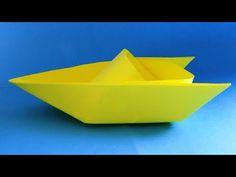 Como fazer um barco de Origami barco de papel feito de papel - YouTube