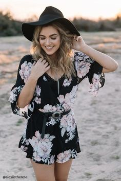 Collective teen teenage fashion style vacation beach college summer + spring womens outfits casual romper first day school Disclosure: Please note the link is an affiliate link which means-at zero cost to you-I might earn a commission if you buy something through my links.