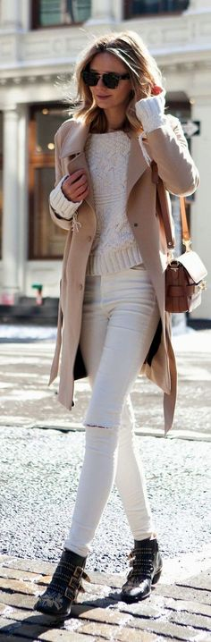 Classic white and beige look