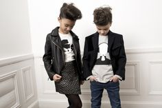 Partywear for kids with a silver brocade skirt or a Tuxedo jacket from Karl Lagerfeld fall 2016