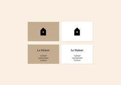 Le Nichoir #branding #business #cards