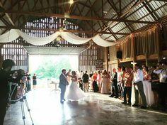 Mr/Mrs dance in the barn