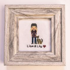 That special bff in your life, that needs that little something. Cross-stitch portraits are an adorable and personal gift for that person in your life. Bothy, Cross Stitch Embroidery, Bff, Needlework, Personalized Gifts, Give It To Me, Lily, Portraits, Cats