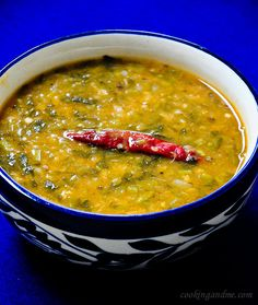 watercress yellow moong dal