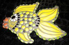 Yellow Mosaic Angel Fish by Sandra Peters
