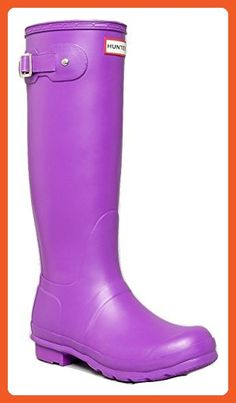 Hunter Original Tall Purple Wellies Rubber Rain Boots (6) - Outdoor shoes for women (*Amazon Partner-Link)