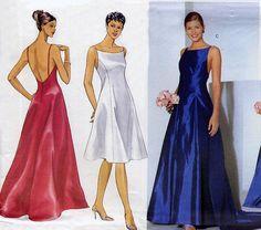 Backless Evening Dress Pattern  Butterick 6404 by treazureddesignz, $6.95