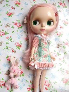 #1 Blythe Prima Dolly Peach-tea time