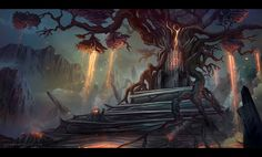 Lava Tree Throne by nilTrace on deviantART