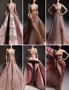 Marwan & Khaled Fall/Winter 2018-19 Haute Couture Ball Gowns Fantasy, Red Ball Gowns, Elegant Dresses, Pretty Dresses, Beautiful Dresses, Couture Fashion, Runway Fashion, Types Of Dresses, Designer Dresses