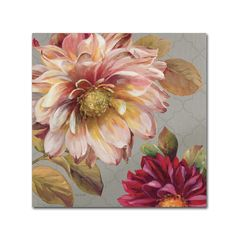 Tangletown Fine Art 'Classically Beautiful III' by Lisa Audit Painting Print on Wrapped Canvas Art Floral, Floral Prints, Floral Wall, Vintage Diy, Canvas Wall Art, Canvas Prints, Canvas Canvas, Cotton Canvas, Art Design