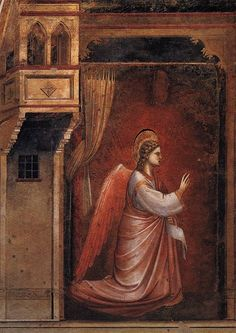 Annunciation (detail) by Giotto di Bondone 1266/7 - 1337, Italian Painter and Architect from Florence.