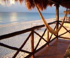 La Vita e Bella, Tulum - Bungalows on the beach. Wish I was there right now.
