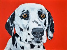 Custom Dalmatian painting