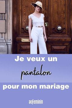 Si la robe fait toujours autant rêver les futures mariées, le pantalon n'est pas en reste ! Combinaison, smoking... Se marier en pantalon n'a jamais été aussi tendance, la preuve. /// #mariage #wedding #pantalon #smoking #robedemariée #mariée #combinaison #aufeminin Smoking, Capri Pants, Inspiration, Fashion, Wedding Bride, White Dress, Biblical Inspiration, Moda, Capri Trousers