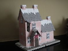 Tim holtz village dwelling die cut kit house building precut 290g card