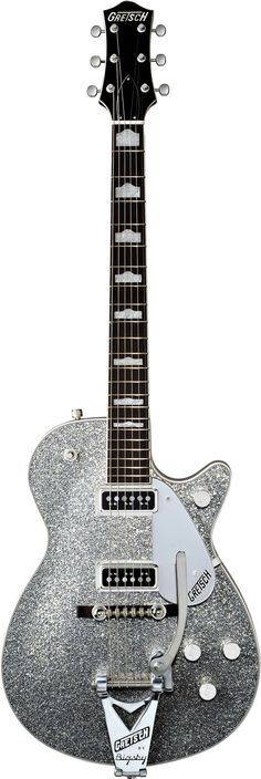 Gretsch Silver Sparkle Jet Can I have this? I have 4 acoustics and 2 electrics plus 2 pianos and an alto saxophone. I want this guitar thoooo Music Guitar, Guitar Amp, Cool Guitar, Playing Guitar, Acoustic Guitar, Guitar Room, Guitar Pics, Gretsch, Alec Guinness