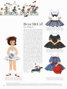 Bonecas de Papel: Betsy McCall visits Pollyanna, 1960