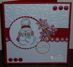 cuttlebug card ideas | Lilackat: Monochrome Christmas.
