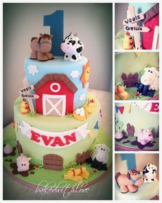 Cute Farm theme cake https://www.facebook.com/pages/Baked-with-Love/115563808503000?sk=timeline