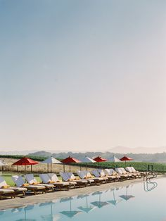 Pool at The Carneros Inn, Napa Valley, CA. Photography by Trent Bailey Photography