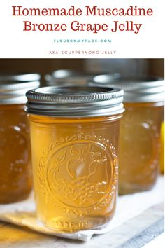 How To Make Scuppernong Jelly Recipe If you live in the south and have a patch of scuppernong or muscadine grapes growing you need to learn How To Make Scuppernong Jelly. No scuppernong grapes in Jelly Recipes, Jam Recipes, Canning Recipes, Grape Recipes, Canning 101, Pressure Canning, Drink Recipes, Homemade Grape Jelly, French Nails