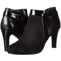 Bandolino Loman Women's Shoes ($89) ❤ liked on Polyvore featuring shoes, boots, ankle booties, high heel ankle booties, high heel booties, faux boots, round toe booties and buckle boots