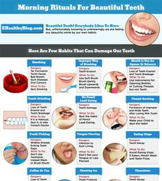 Morning Rituals For Beautiful Teeth [Infographic] - E Healthy Blog – Complete Health Information, Tips, News