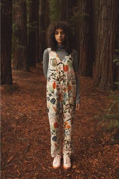 Gorman Online :: Green Fingers Linen Pantsuit - New Arrivals Quirky Fashion, Look Fashion, Fashion Outfits, Womens Fashion, Fall Fashion, Fashion Tips, Looks Style, Looks Cool, My Style