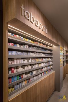 View the full picture gallery of Tabacchi_Salice Hookah Lounge Decor, Tobacco Store, Fashion Store Design, Candy Room, Aquarium Shop, Retail Branding, Supermarket Design, Pharmacy Design, Counter Design