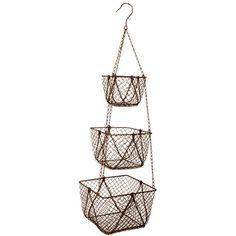 Clementine Creations Midra 3 Tier Hanging Basket | Wayfair UK