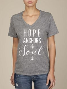 Alternative Apparel Adoption T-Shirt - Hope Anchors the Soul - 100% of proceeds support adoption #adoption #fundraiser #shopwithpurpose