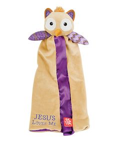 Look what I found on #zulily! 6'' x 14'' Brown & Purple Opal the Owlet Lovey by Wee Believers #zulilyfinds