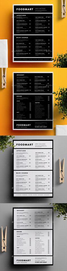 Simple Restaurant Menu 03 - Food Menus Print Templates Download here : https://graphicriver.net/item/simple-restaurant-menu-03/19227900?s_rank=78&ref=Al-fatih